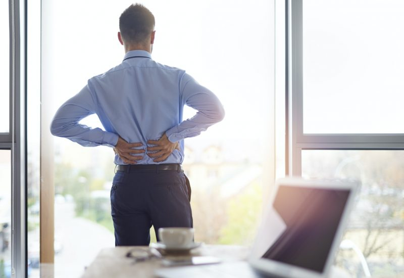 Back pain of business person